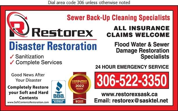 Restorex Disaster Restoration - Sewer Contractors Digital Ad