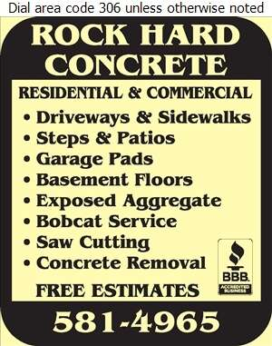 Rock Hard Concrete - Concrete Contractors Digital Ad