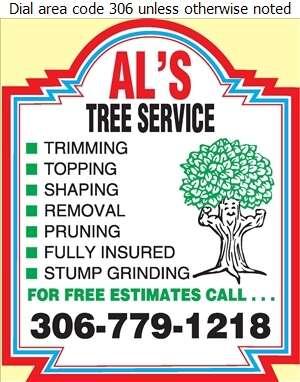 Al's Tree Service - Tree Service & Stump Removal Digital Ad