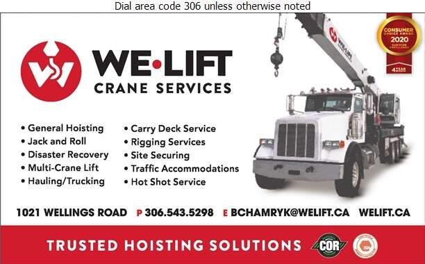 We-Lift Crane Services Ltd - Crane Service Digital Ad