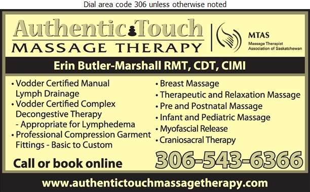 Authentic Touch Massage Therapy - Massage Therapists Digital Ad