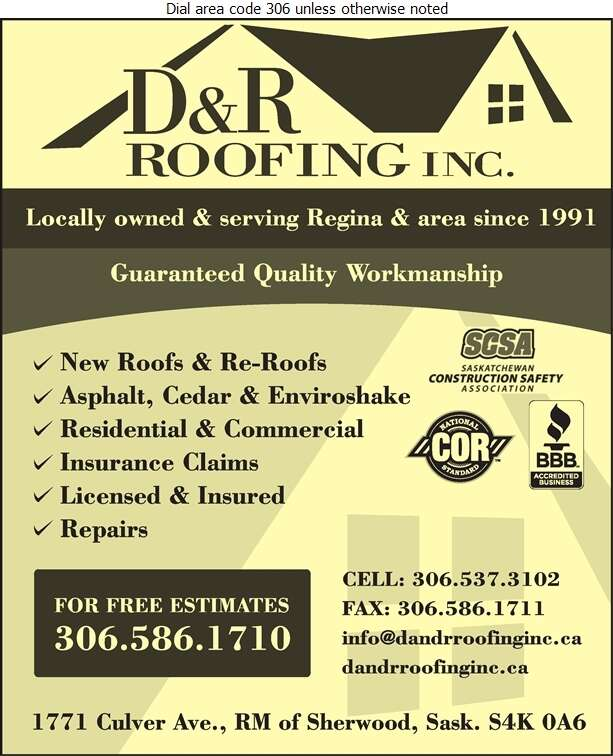 D & R Roofing Inc - Roofing Contractors Digital Ad