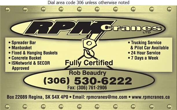 RPM Cranes Ltd - Crane Service Digital Ad