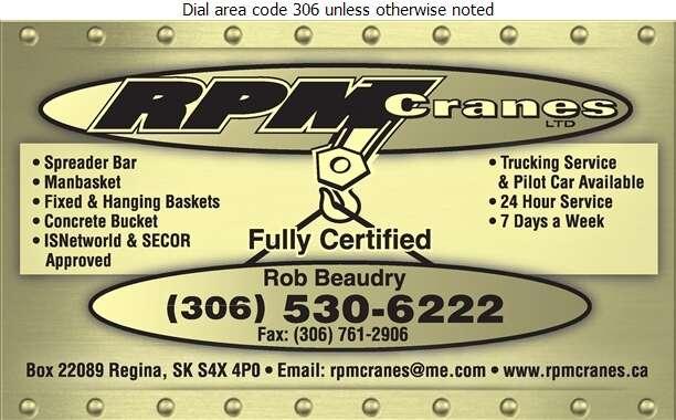 RPM Cranes Ltd - Crane Service Digital Ad