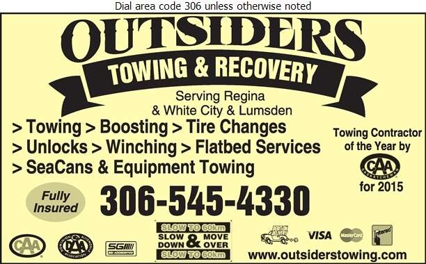 Outsiders Towing & Recovery - Towing & Boosting Service Digital Ad
