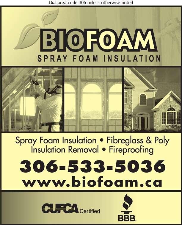 BioFoam Spray Foam Insulation - Insulation Contractors Cold & Heat Digital Ad