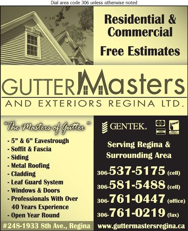 GutterMasters & Exteriors Regina Ltd (Shop) - Eavestroughing Digital Ad