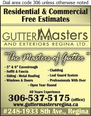 GutterMasters & Exteriors Regina Ltd (Shop) - Siding Digital Ad
