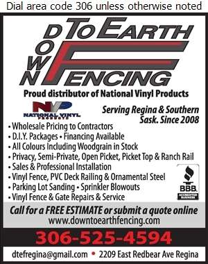 Down To Earth Fencing Inc - Fences Digital Ad