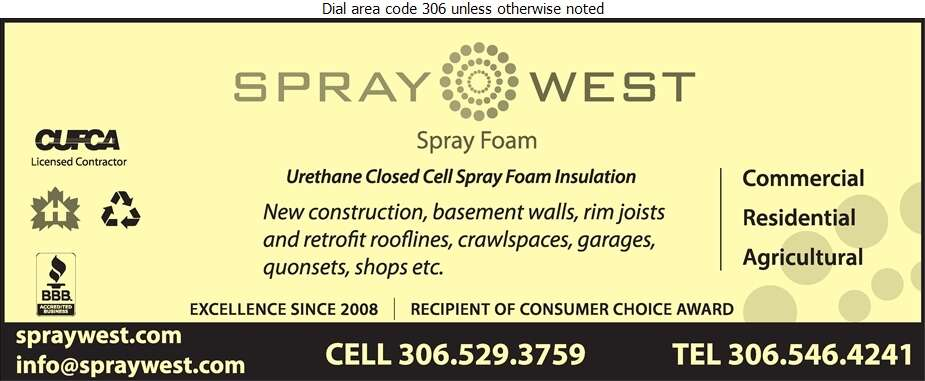 Spraywest Inc - Insulation Contractors Cold & Heat Digital Ad