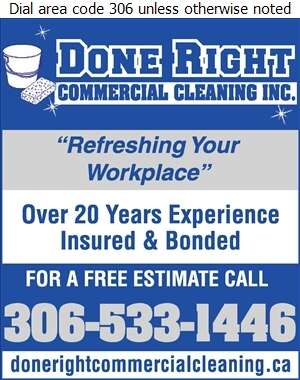 Done Right Commercial Cleaning Inc - Janitor Service Digital Ad