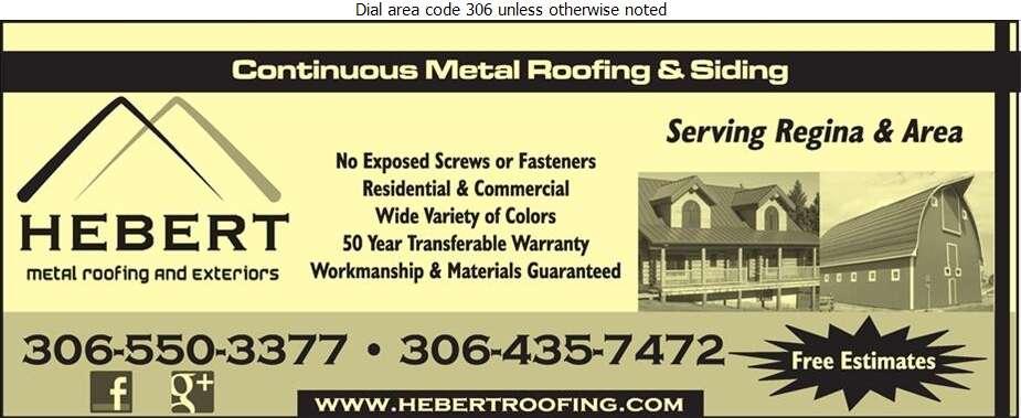 Hebert Metal Roofing & Exteriors Ltd - Roofing Contractors Digital Ad