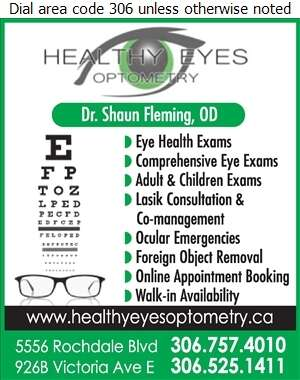 Healthy Eyes Optometry (Fax) - Optometrists Digital Ad