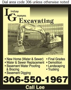 L G Excavating - Excavating Contractors Digital Ad