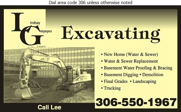 L G Excavating - Sewer Contractors Digital Ad