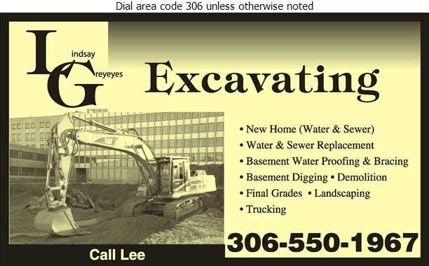 L G Excavating - Sewer Contractors Digital Ad