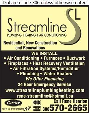 Streamline Plumbing Heating & Air Conditioning - Air Conditioning Contractors Digital Ad