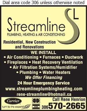 Streamline Plumbing Heating & Air Conditioning - Plumbing Contractors Digital Ad