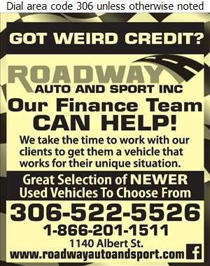 Roadway Auto & Sport Inc - Auto Dealers Used Cars Digital Ad