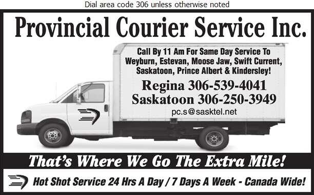 Provincial Courier Service Inc - Courier Service Digital Ad