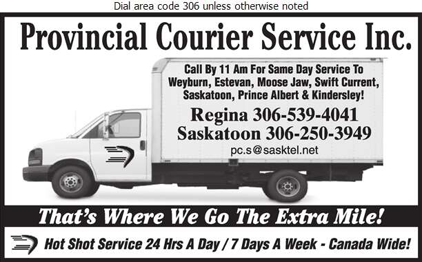 Provincial Courier Service Inc - Delivery Service Digital Ad