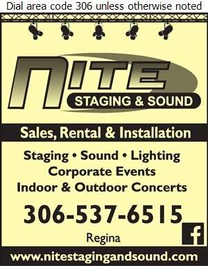 Nite Staging and Sound - Lighting Systems & Equipment Digital Ad