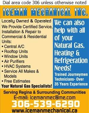 Iceman Mechanical - Air Conditioning Contractors Digital Ad