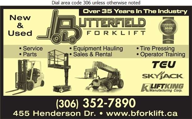 Butterfield Forklift Ltd - Forklifts Digital Ad