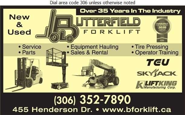 Butterfield Forklift Ltd - Forklifts Digital Ad