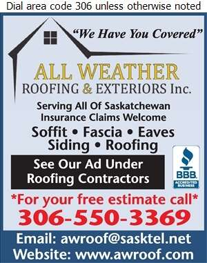 All Weather Roofing Inc - Eavestroughing Digital Ad