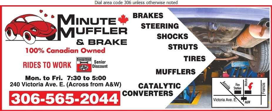 Minute Muffler & Brake - Brake Service Digital Ad