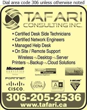 Tafari Consulting Inc - Computers - Networking Digital Ad