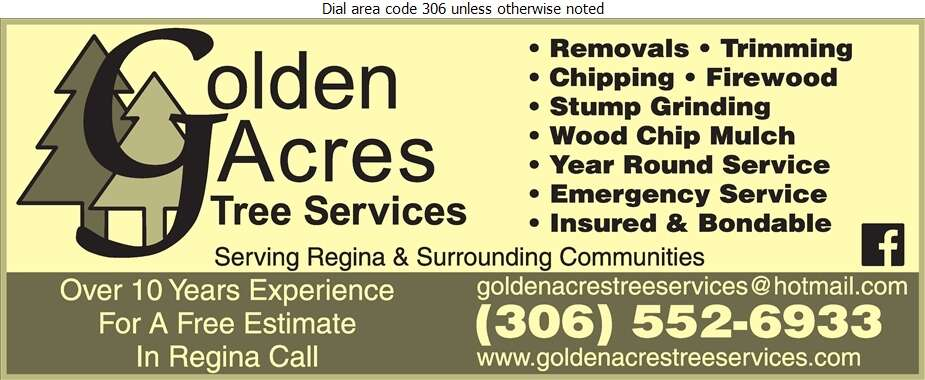 Golden Acres Tree Services - Tree Service & Stump Removal Digital Ad
