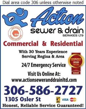 Action Sewer And Drain Services Ltd - Plumbing Contractors Digital Ad