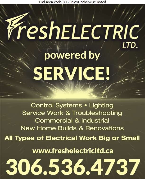 Fresh Electric - Electric Contractors Digital Ad