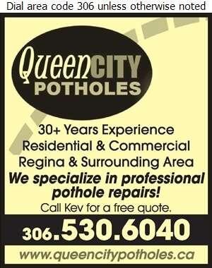 Queen City Potholes - Paving Contractors Digital Ad