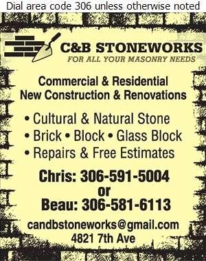 C & B Stoneworks - Brickwork & Masonry Digital Ad