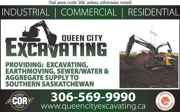 Queen City Excavating Inc - Excavating Contractors Digital Ad