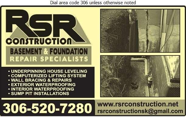 RSR Construction Ltd - Basement Contractors Digital Ad
