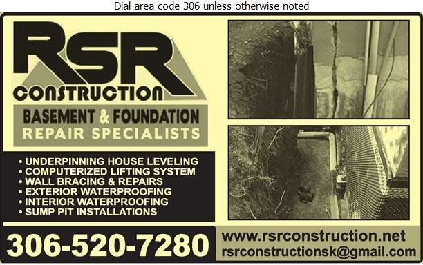RSR Construction Ltd - Foundation Contractors Digital Ad