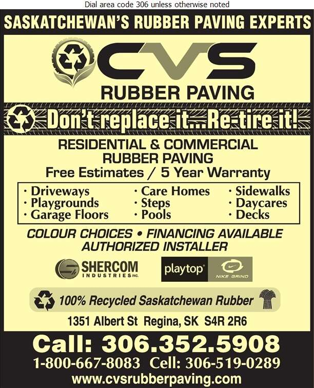 CVS Rubber Paving - Paving Contractors Digital Ad