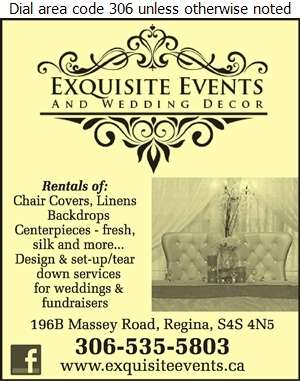 Exquisite Events & Wedding Decor Inc - Wedding Planning, Supplies & Service Digital Ad