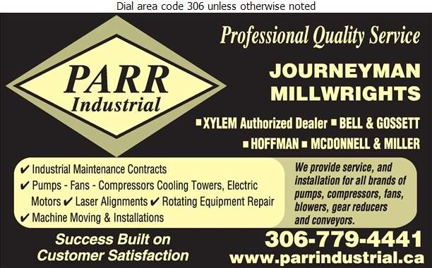 Parr Industrial Ltd - Pumps Digital Ad