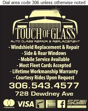 A Touch Of Glass - Glass Auto, Float, Plate, Window Etc Digital Ad
