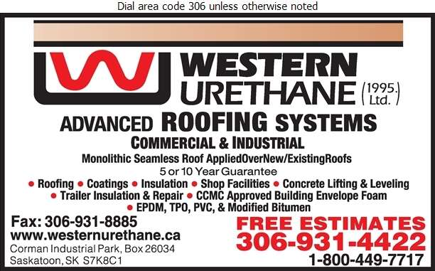 Western Urethane (1995) Ltd - Roofing Contractors Digital Ad