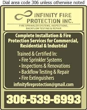 Infinity Fire Protection - Sprinklers Automatic Fire Digital Ad