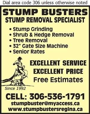 Stump Busters - Tree Service & Stump Removal Digital Ad