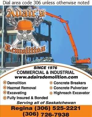 Adair's Demolition Ltd - Demolition Contractors Digital Ad