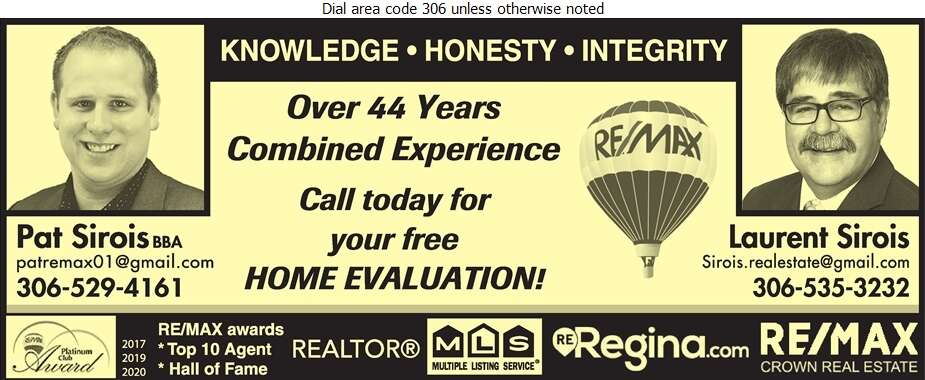 Pat Sirois Remax Realtor - Real Estate Digital Ad