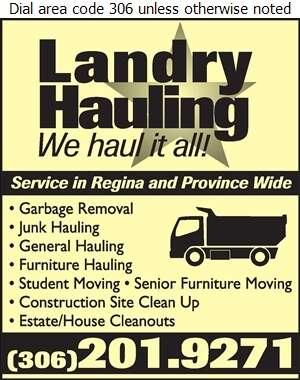 Landry Hauling - Hauling - General Digital Ad